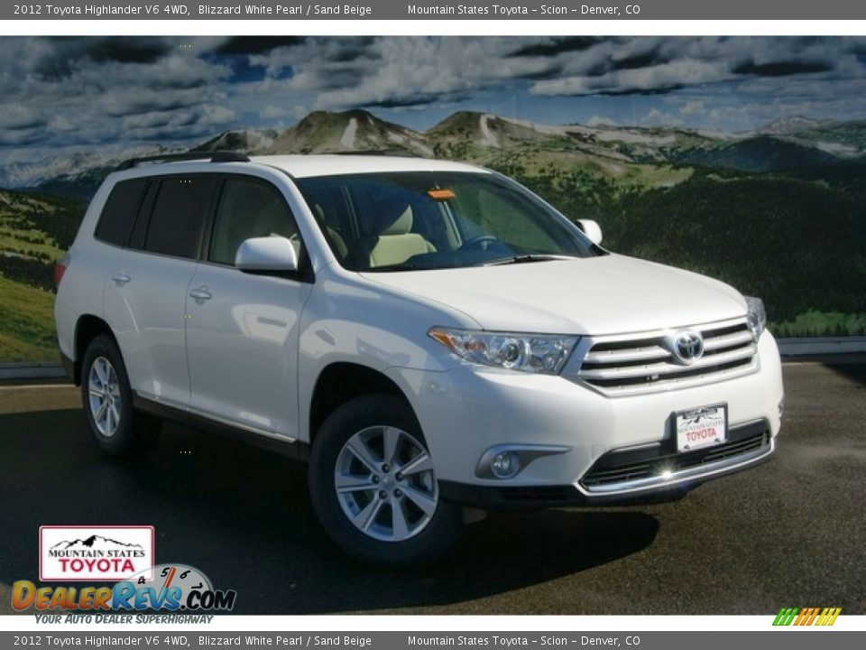 Toyota Dealership Asheville Blizzard White Pearl 2012 Toyota Highlander Se 4wd With Sand Beige ...
