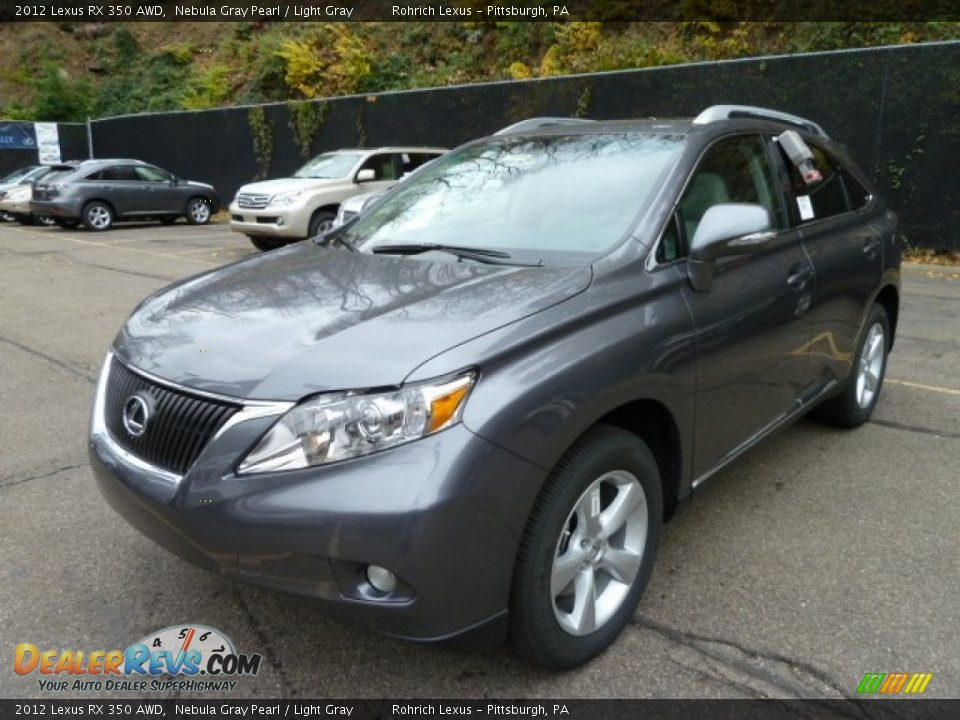 2012 lexus rx 350 awd nebula gray pearl light gray photo. Black Bedroom Furniture Sets. Home Design Ideas