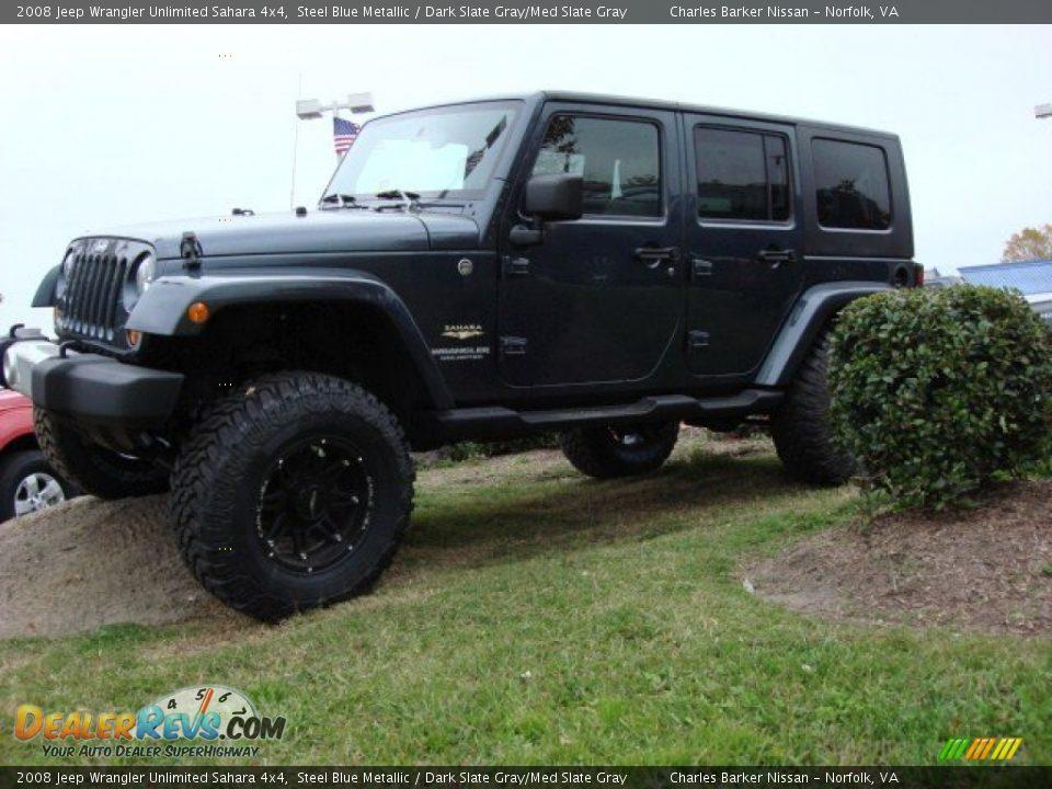 2008 jeep wrangler unlimited sahara 4x4 steel blue metallic dark slate gray med slate gray