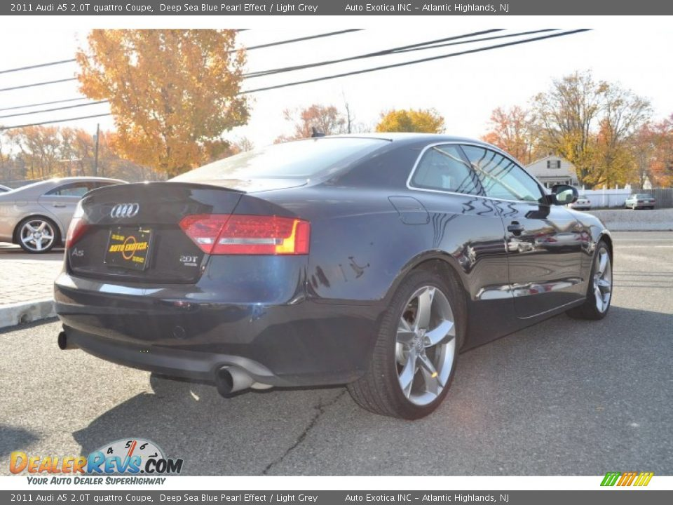 2011 Audi A5 2 0t Quattro Coupe Deep Sea Blue Pearl Effect