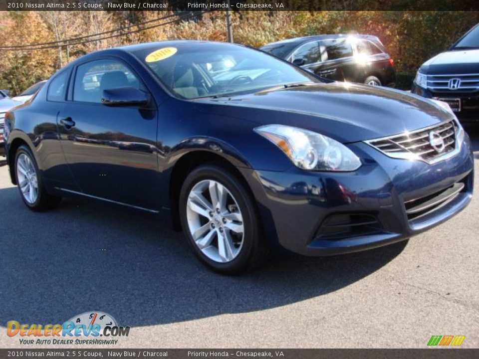 2010 nissan altima 2 5 s coupe navy blue charcoal photo 6. Black Bedroom Furniture Sets. Home Design Ideas