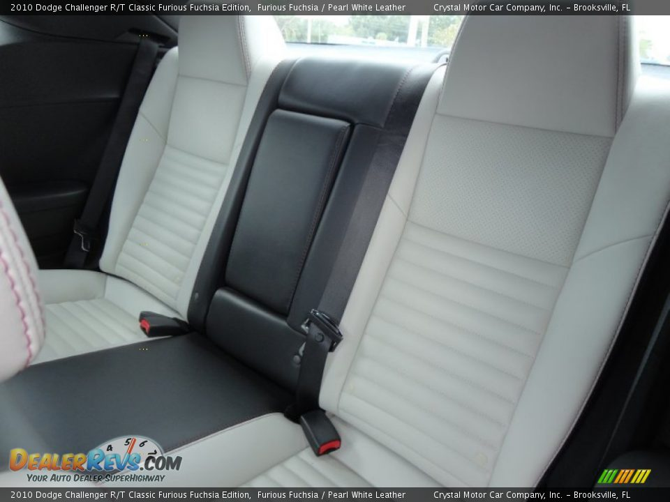 Pearl White Leather Interior 2010 Dodge Challenger R T