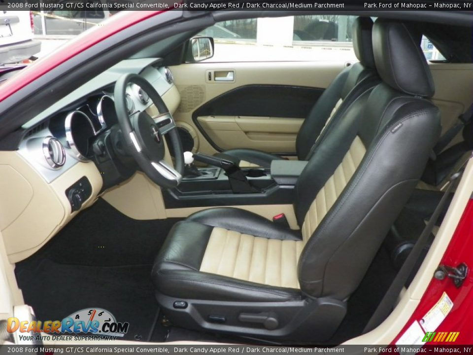 Dark Charcoal Medium Parchment Interior 2008 Ford Mustang Gt Cs California Special Convertible