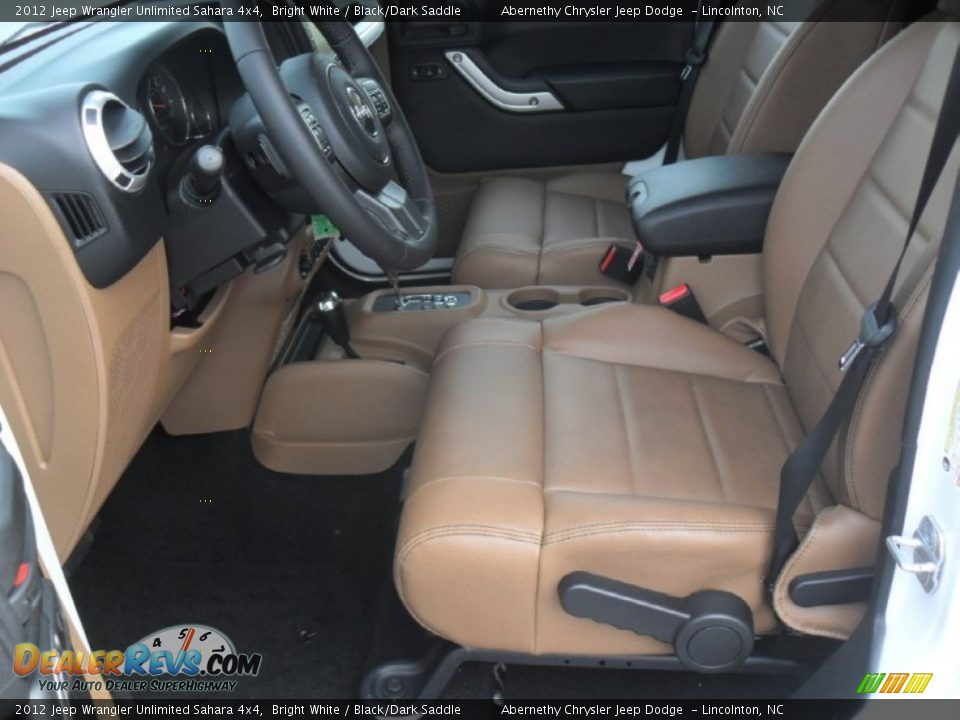 Black Dark Saddle Interior 2012 Jeep Wrangler Unlimited Sahara 4x4 Photo 8