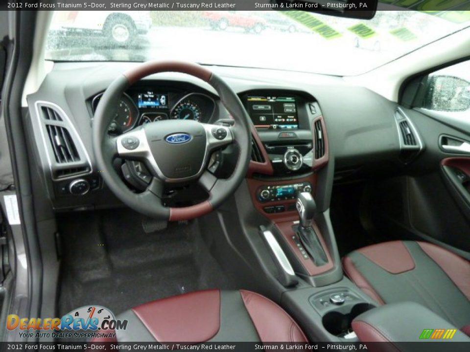 Tuscany Red Leather Interior 2012 Ford Focus Titanium 5 Door Photo