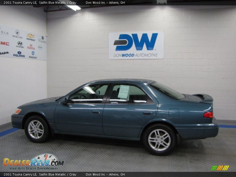 2001 Toyota Camry Le Sailfin Blue Metallic Gray Photo 5
