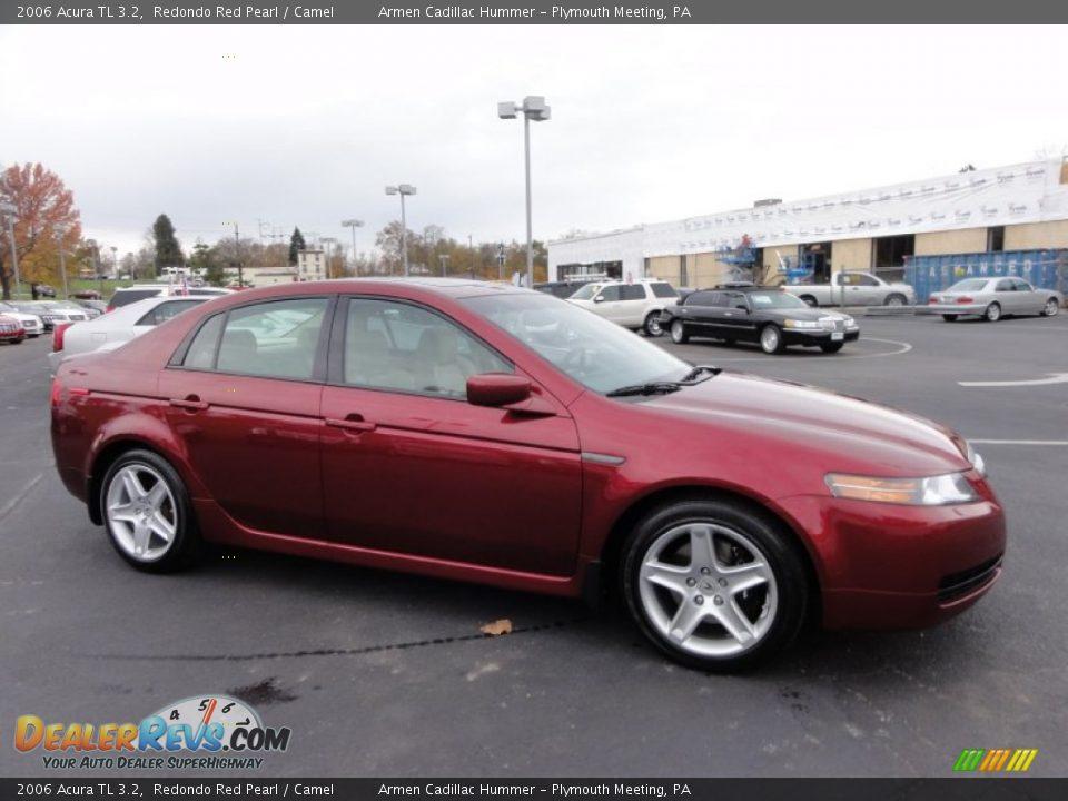 2006 Acura TL 3.2 Redondo Red Pearl / Camel Photo #6 | DealerRevs.com