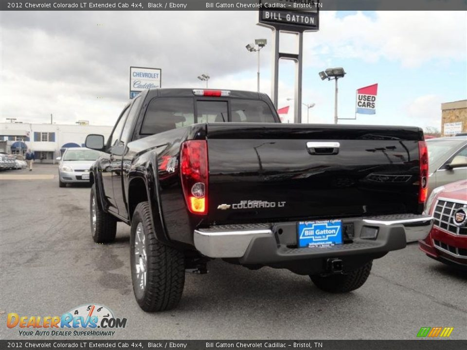 2012 Chevrolet Colorado Lt Extended Cab 4x4 Black Ebony