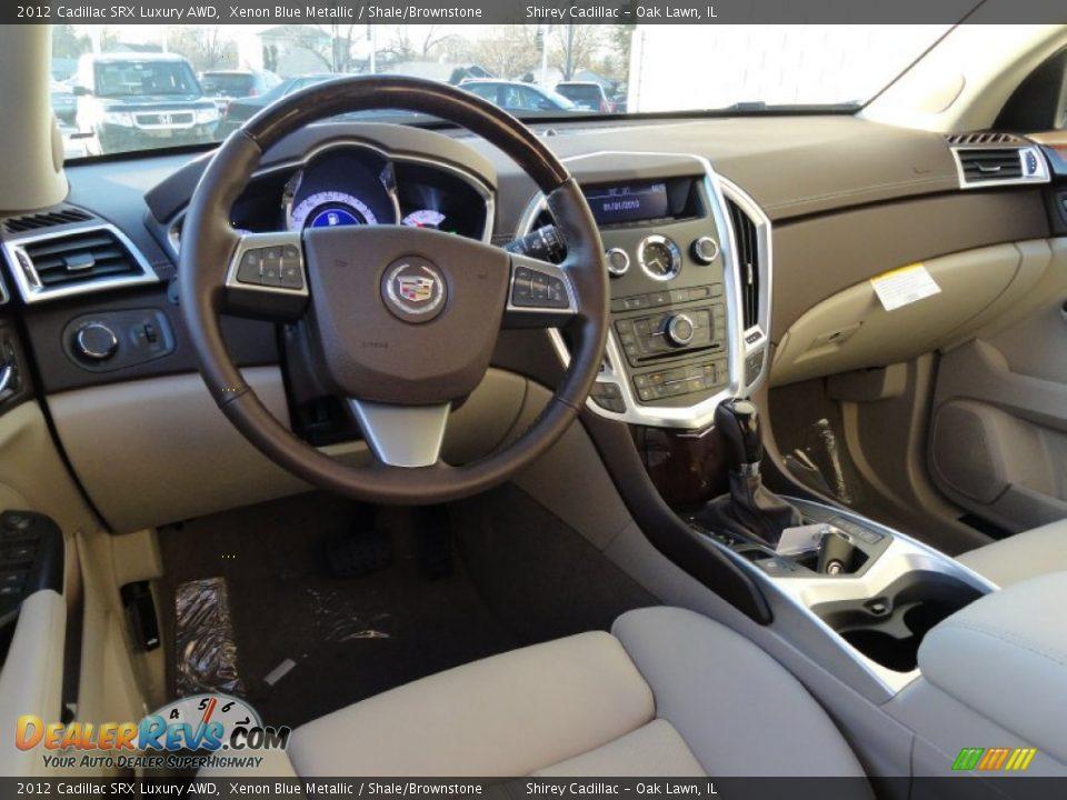 Shale Brownstone Interior 2012 Cadillac Srx Luxury Awd Photo 10