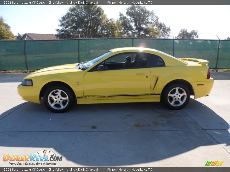 Ford Dealer Locator >> 2001 Ford Mustang V6 Coupe Zinc Yellow Metallic / Dark ...