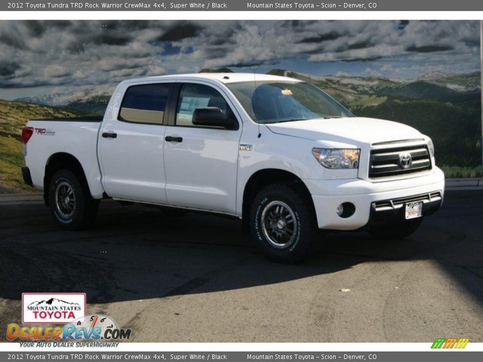Toyota Tundra Rock Warrior >> 2012 Toyota Tundra TRD Rock Warrior CrewMax 4x4 Super White / Black Photo #1 | DealerRevs.com