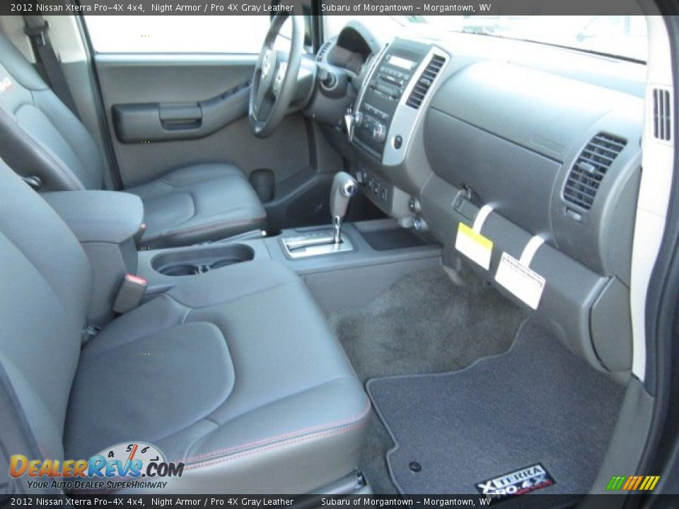 pro 4x gray leather interior 2012 nissan xterra pro 4x. Black Bedroom Furniture Sets. Home Design Ideas