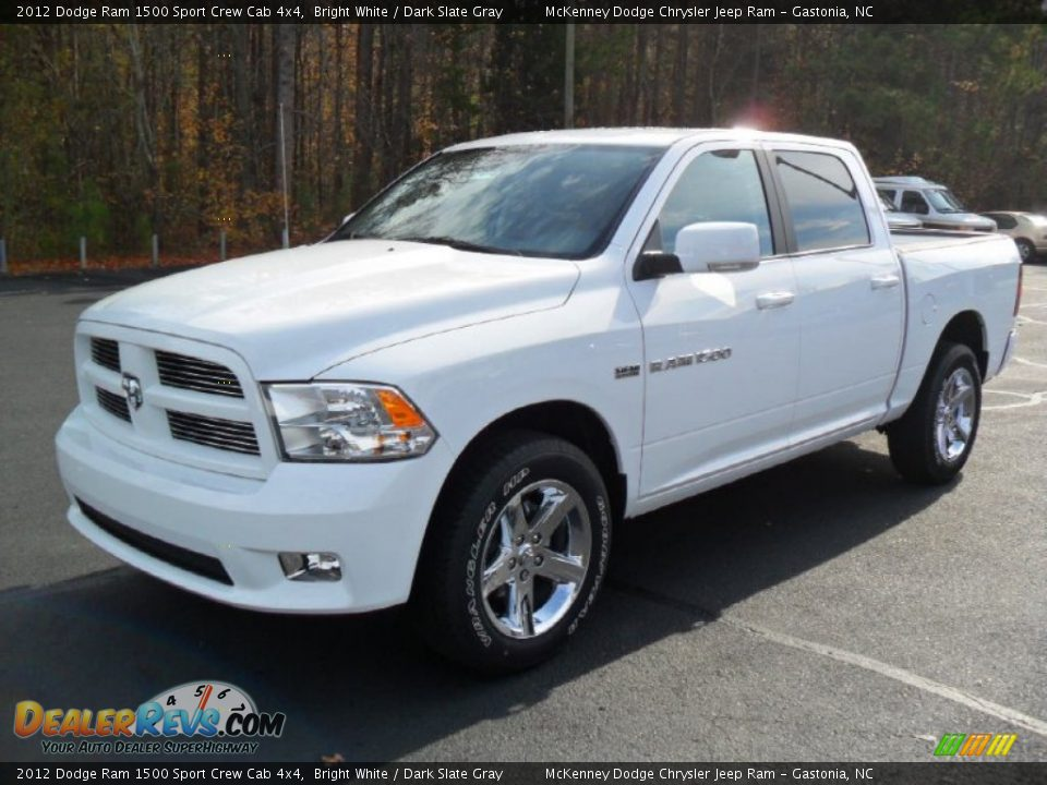 2012 dodge ram 1500 sport crew cab 4x4 bright white dark slate gray. Black Bedroom Furniture Sets. Home Design Ideas