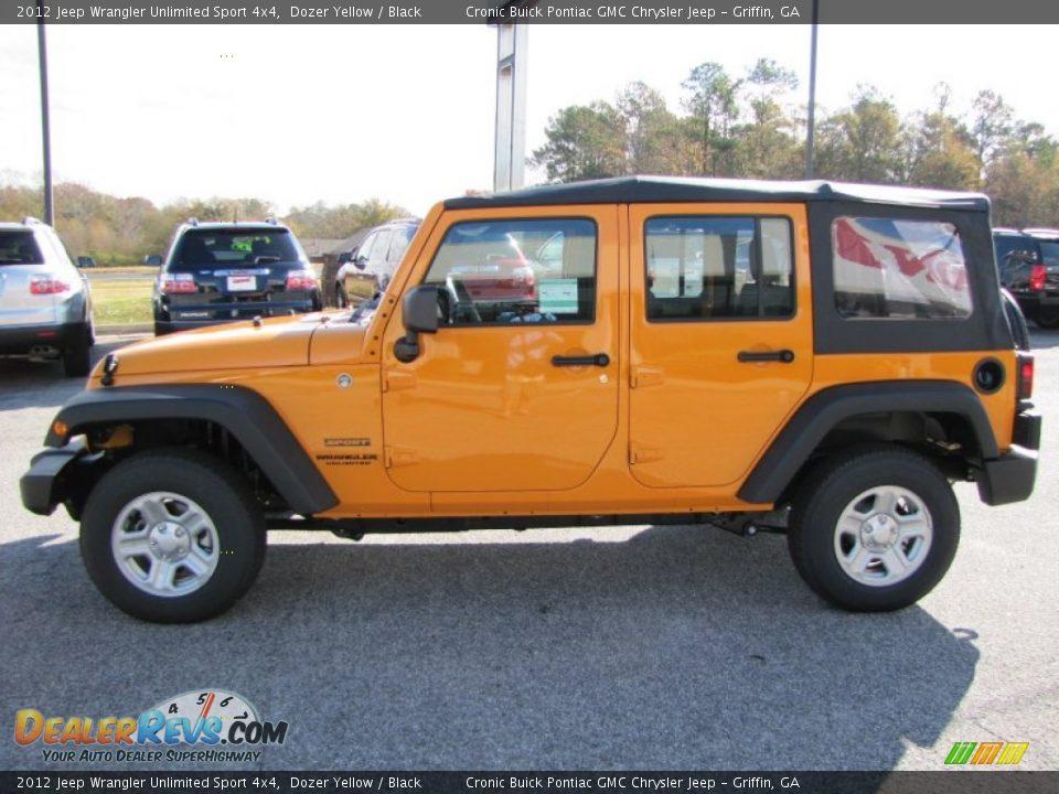 Dozer Yellow 2012 Jeep Wrangler Unlimited Sport 4x4 Photo ...