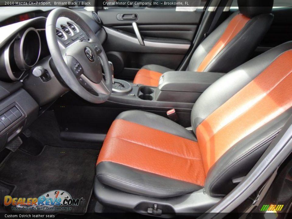 custom ostrich leather seats 2010 mazda cx 7. Black Bedroom Furniture Sets. Home Design Ideas