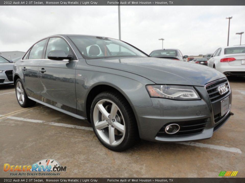 2012 Audi A4 2 0t Sedan Monsoon Gray Metallic Light Gray