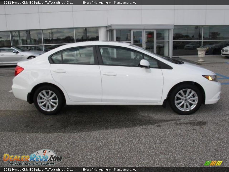 2012 honda civic ex sedan taffeta white gray photo 2 for 2012 honda civic white