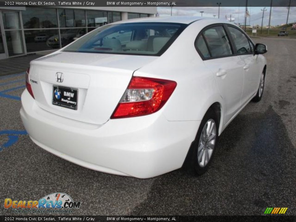 2012 honda civic ex sedan taffeta white gray photo 4 for 2012 honda civic white