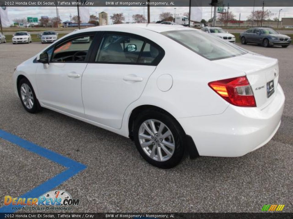 2012 honda civic ex sedan taffeta white gray photo 6 for 2012 honda civic white