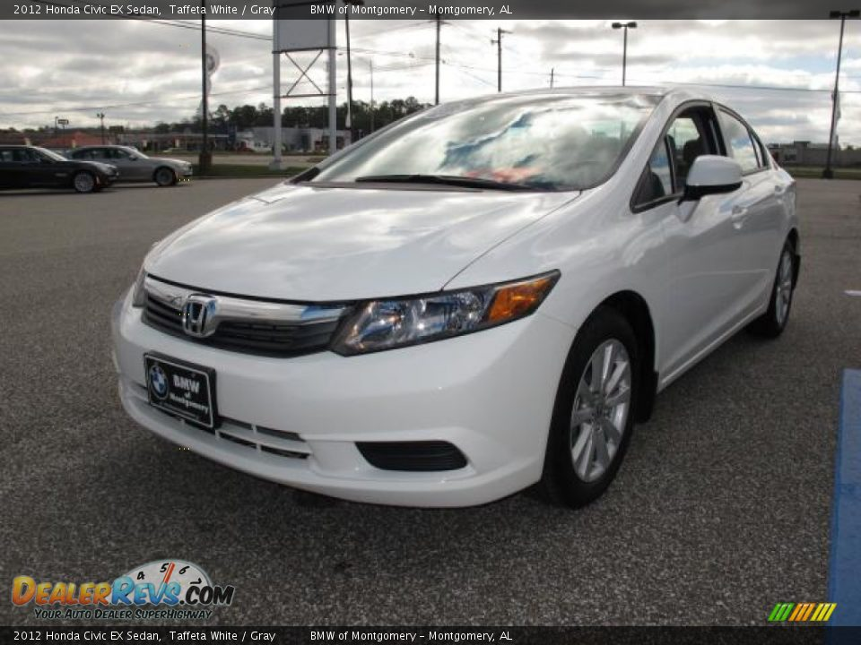 2012 honda civic ex sedan taffeta white gray photo 9 for 2012 honda civic white