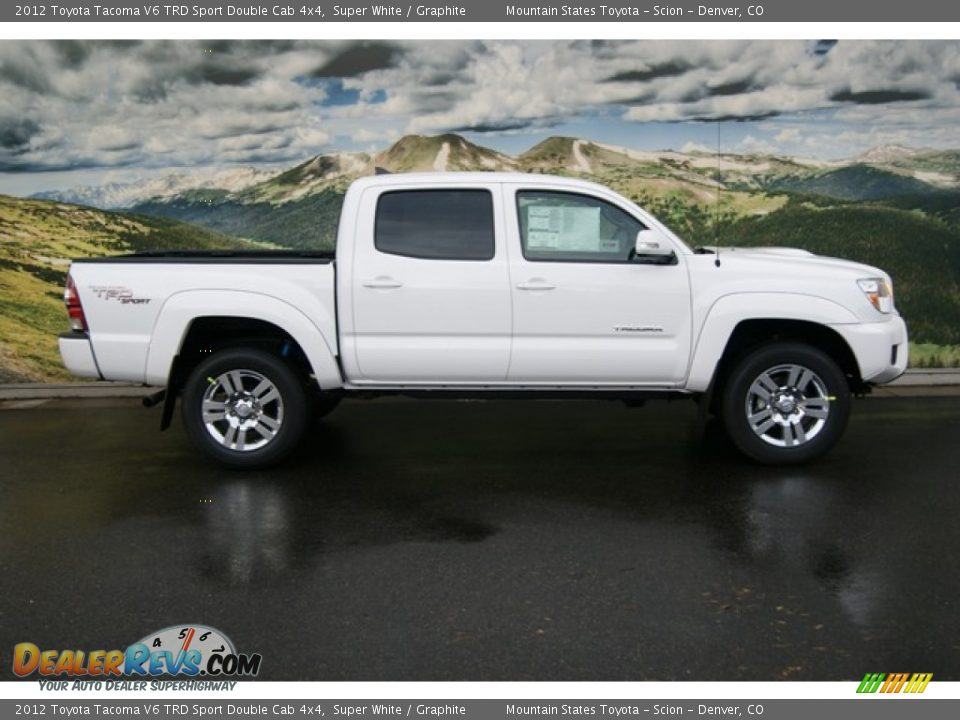 super white 2012 toyota tacoma v6 trd sport double cab 4x4 photo 2. Black Bedroom Furniture Sets. Home Design Ideas