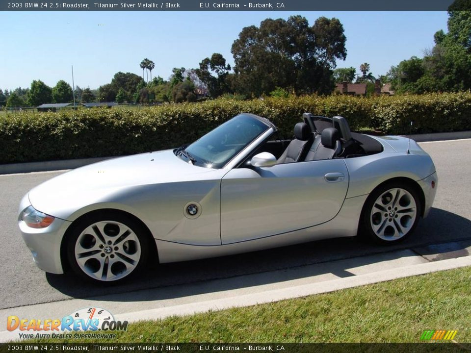 2003 Bmw Z4 2 5i Roadster Titanium Silver Metallic Black Photo 2 Dealerrevs Com