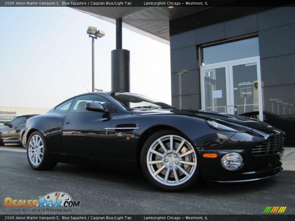 2006 Aston Martin Vanquish S Blue Sapphire / Caspian Blue/Light Tan Photo #1