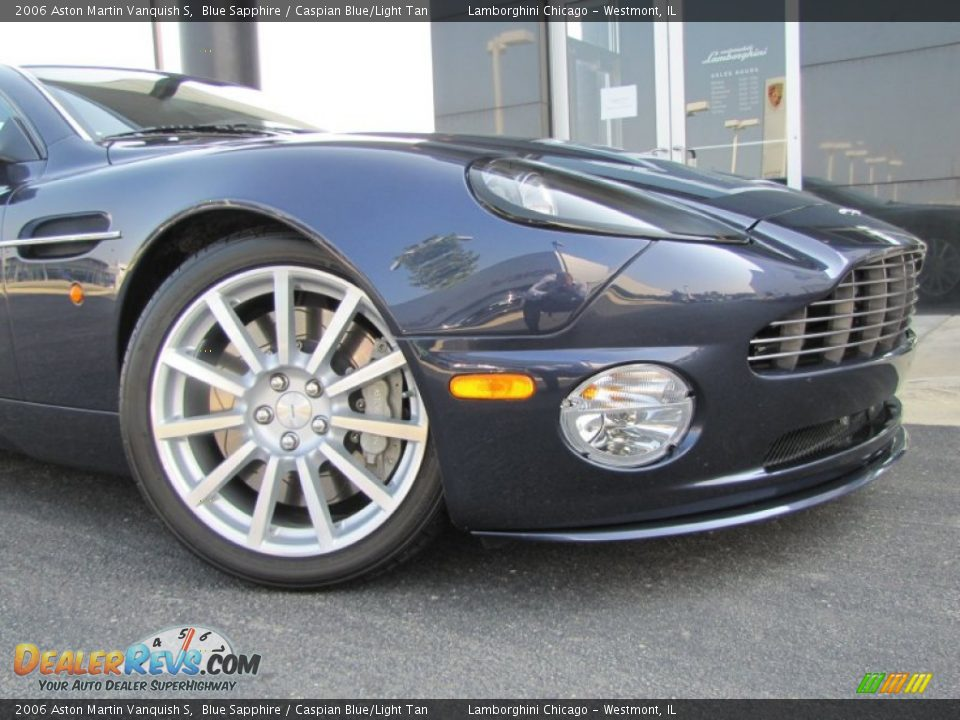 2006 Aston Martin Vanquish S Blue Sapphire / Caspian Blue/Light Tan Photo #3