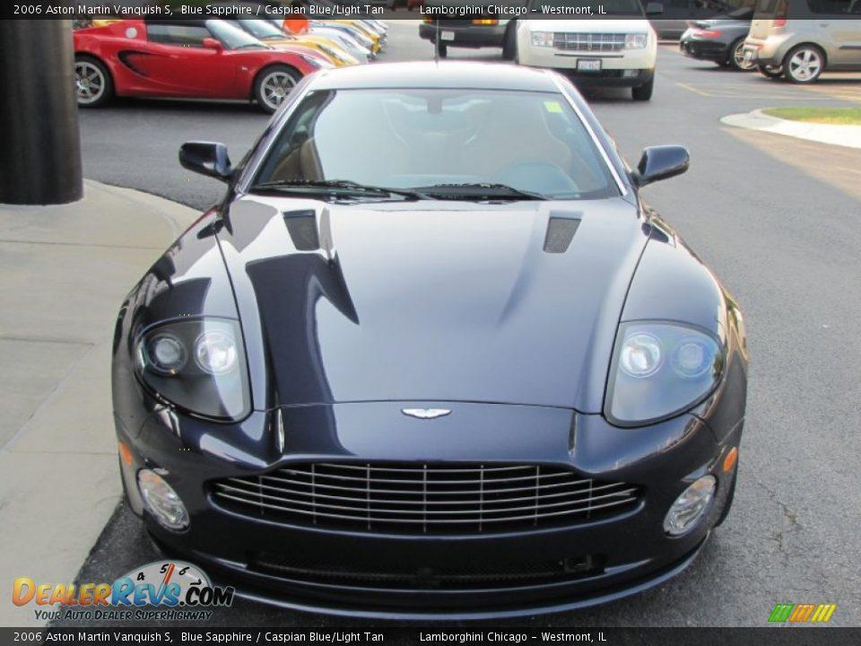 2006 Aston Martin Vanquish S Blue Sapphire / Caspian Blue/Light Tan Photo #9