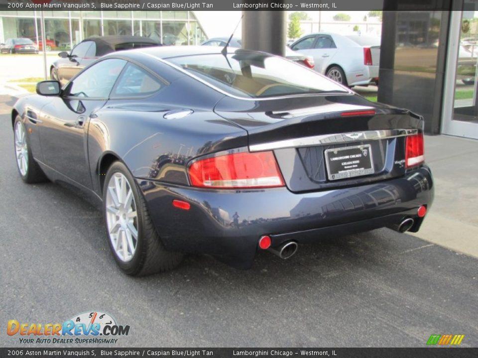 2006 Aston Martin Vanquish S Blue Sapphire / Caspian Blue/Light Tan Photo #13