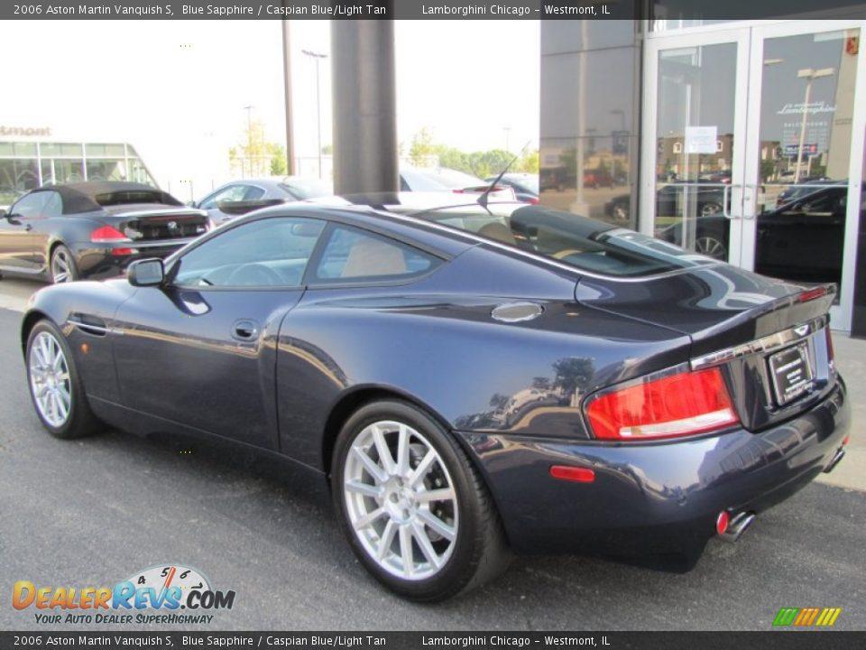 2006 Aston Martin Vanquish S Blue Sapphire / Caspian Blue/Light Tan Photo #17
