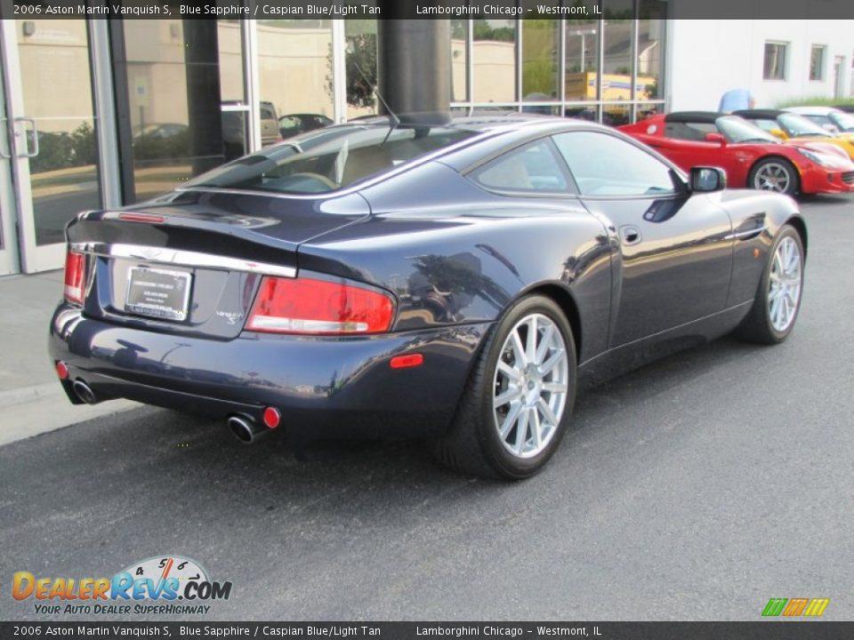 2006 Aston Martin Vanquish S Blue Sapphire / Caspian Blue/Light Tan Photo #21