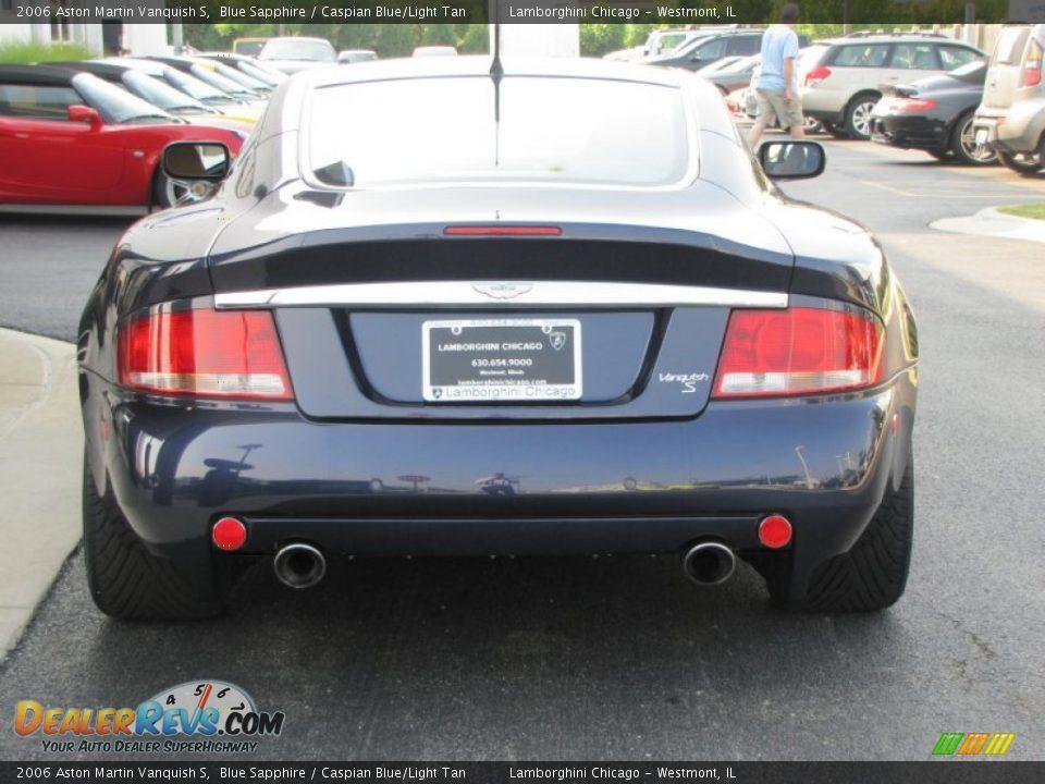 2006 Aston Martin Vanquish S Blue Sapphire / Caspian Blue/Light Tan Photo #23
