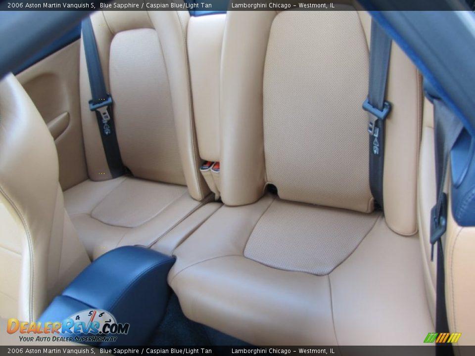 Caspian Blue/Light Tan Interior - 2006 Aston Martin Vanquish S Photo #31