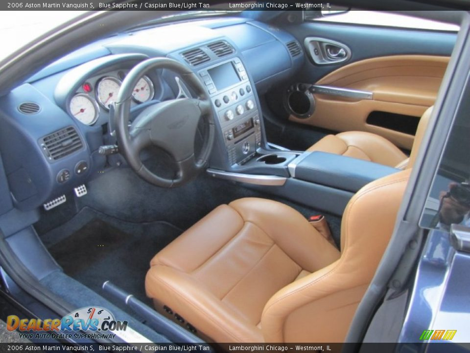 Caspian Blue/Light Tan Interior - 2006 Aston Martin Vanquish S Photo #32