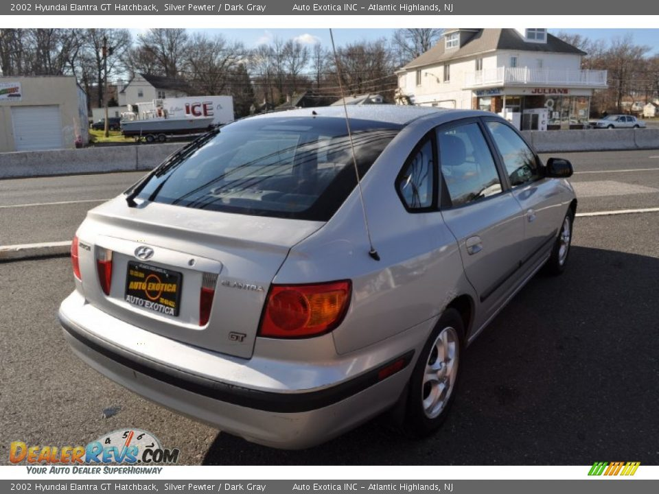 2002 hyundai elantra gt hatchback silver pewter dark. Black Bedroom Furniture Sets. Home Design Ideas