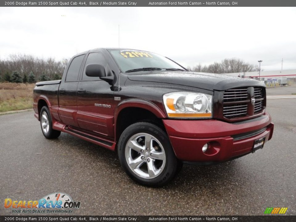 2006 dodge ram 1500 sport quad cab 4x4 black medium slate gray photo 1. Black Bedroom Furniture Sets. Home Design Ideas
