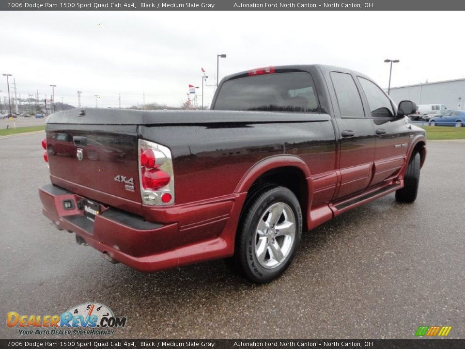 2006 dodge ram 1500 sport quad cab 4x4 black medium slate gray photo 3. Black Bedroom Furniture Sets. Home Design Ideas