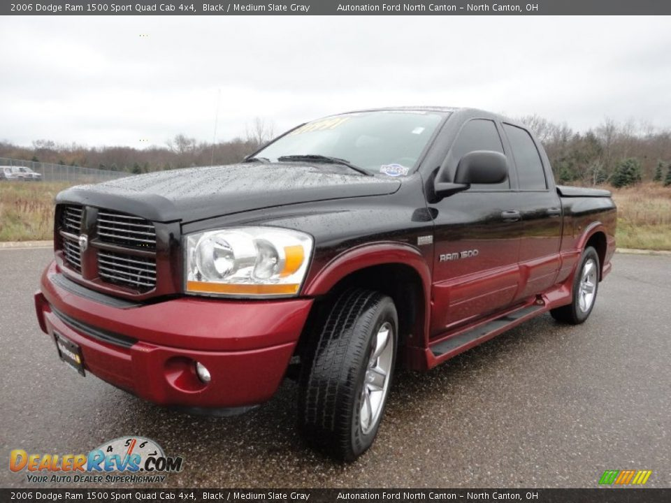 2006 dodge ram 1500 sport quad cab 4x4 black medium slate gray photo 11. Black Bedroom Furniture Sets. Home Design Ideas