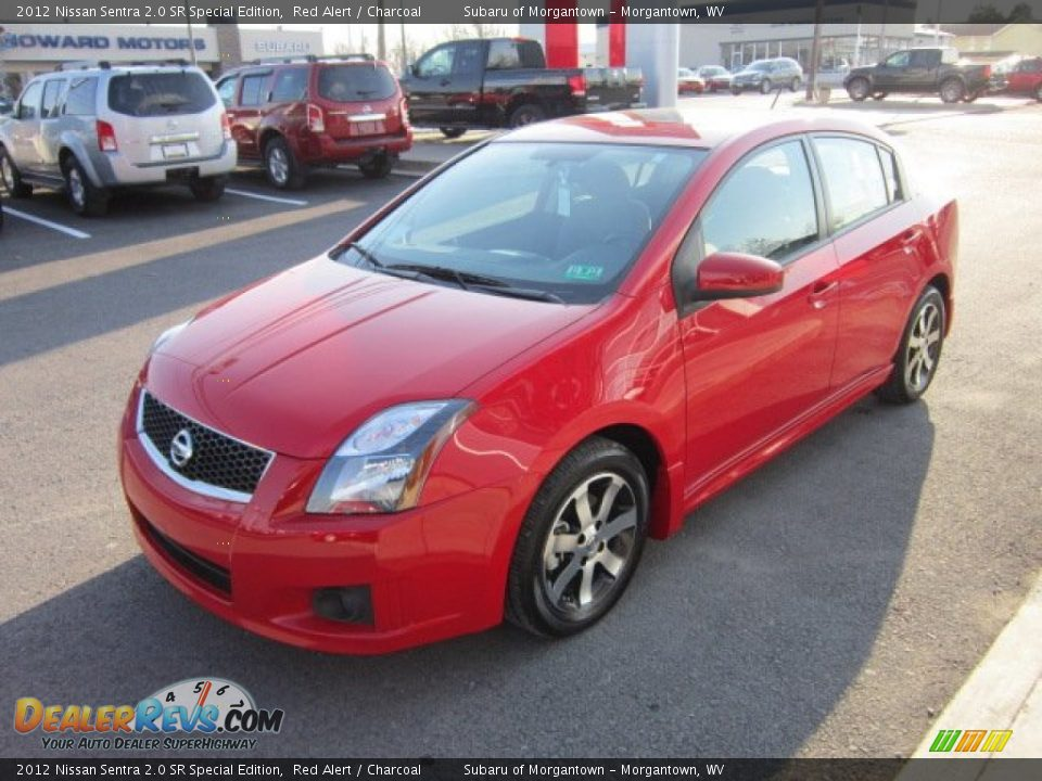 2012 nissan sentra 2 0 sr special edition red alert charcoal photo 3. Black Bedroom Furniture Sets. Home Design Ideas