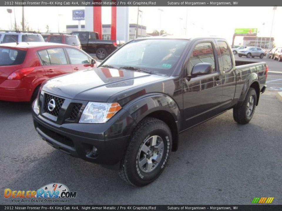 2012 nissan frontier pro 4x king cab 4x4 night armor metallic pro 4x graphite red photo 3. Black Bedroom Furniture Sets. Home Design Ideas