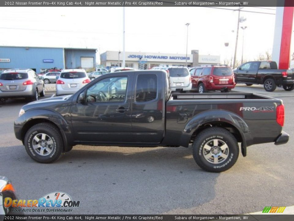 2012 nissan frontier pro 4x king cab 4x4 night armor metallic pro 4x graphite red photo 4. Black Bedroom Furniture Sets. Home Design Ideas