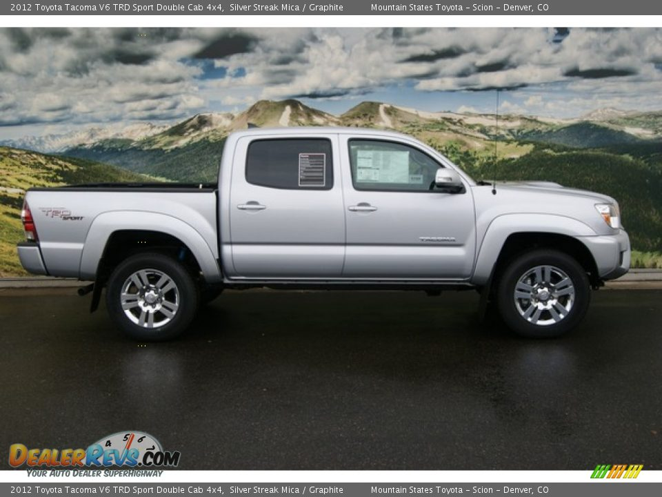 2012 toyota tacoma v6 trd sport double cab 4x4 silver streak mica graphite photo 2. Black Bedroom Furniture Sets. Home Design Ideas
