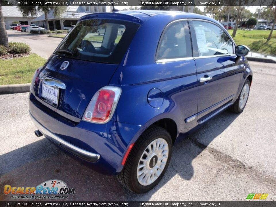 2012 Fiat 500 Lounge Azzurro Blue Tessuto Avorio Nero