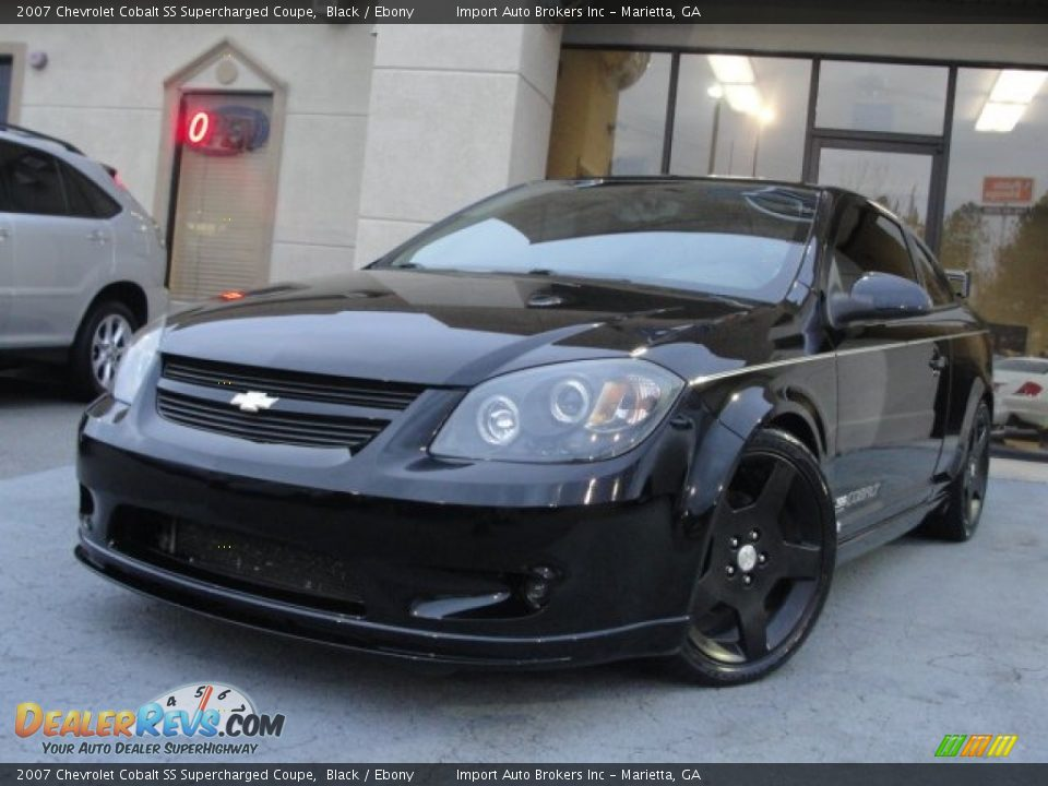 2007 chevrolet cobalt ss supercharged coupe black ebony. Black Bedroom Furniture Sets. Home Design Ideas