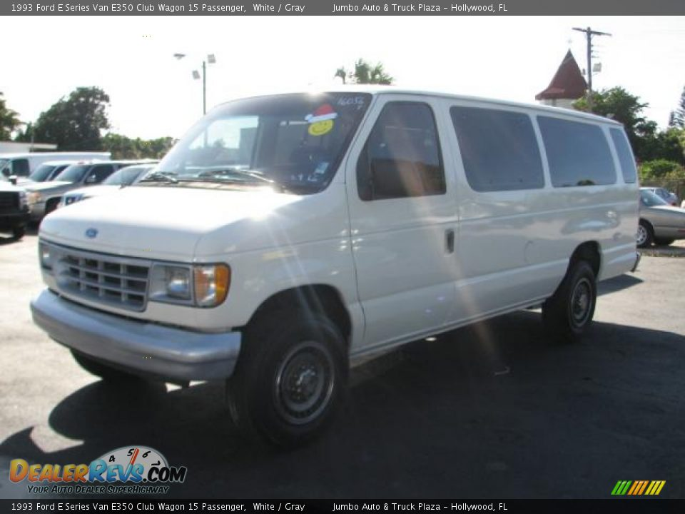 1993 Ford E Series Van E350 Club Wagon 15 Passenger White