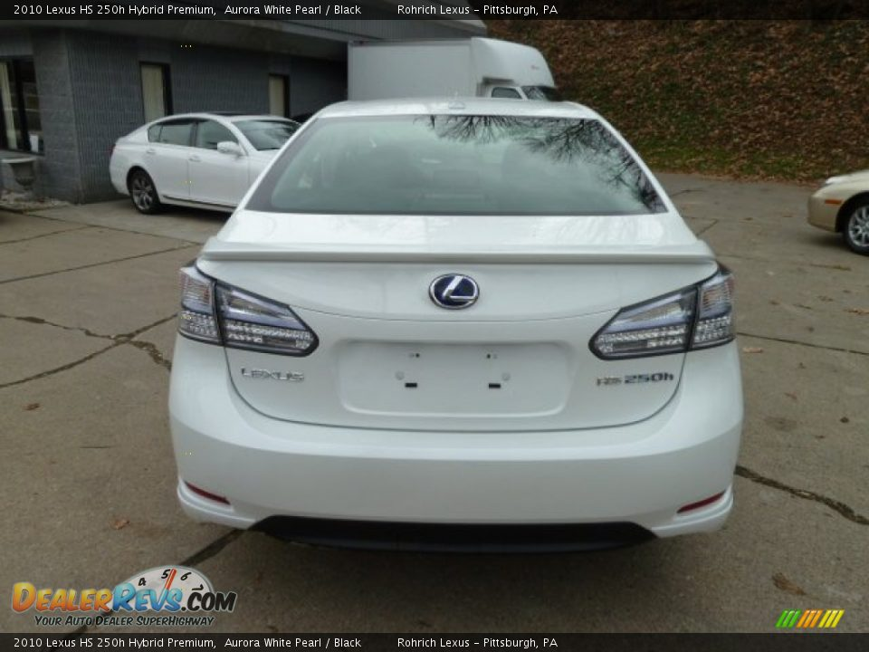 2010 lexus hs 250h hybrid premium aurora white pearl black photo 4. Black Bedroom Furniture Sets. Home Design Ideas