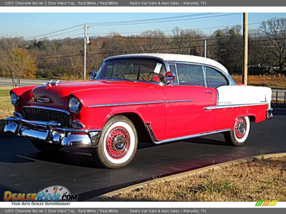 Front 3/4 View of 1955 Chevrolet Bel Air 2 Door Hard Top Photo #1