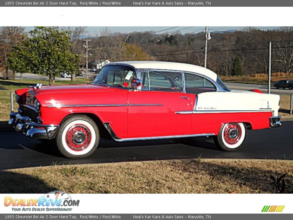 Red/White 1955 Chevrolet Bel Air 2 Door Hard Top Photo #3