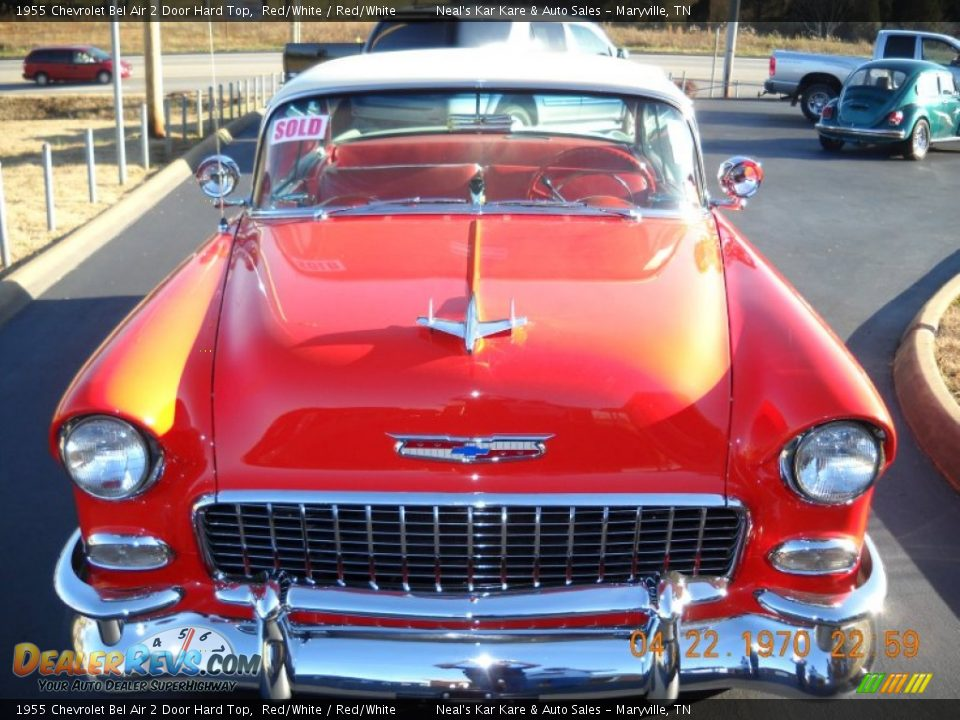Red/White 1955 Chevrolet Bel Air 2 Door Hard Top Photo #4